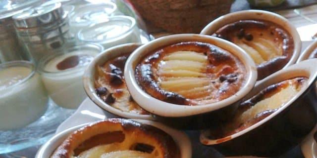 Petit déjeuner d'hiver : le gratin poire chocolat